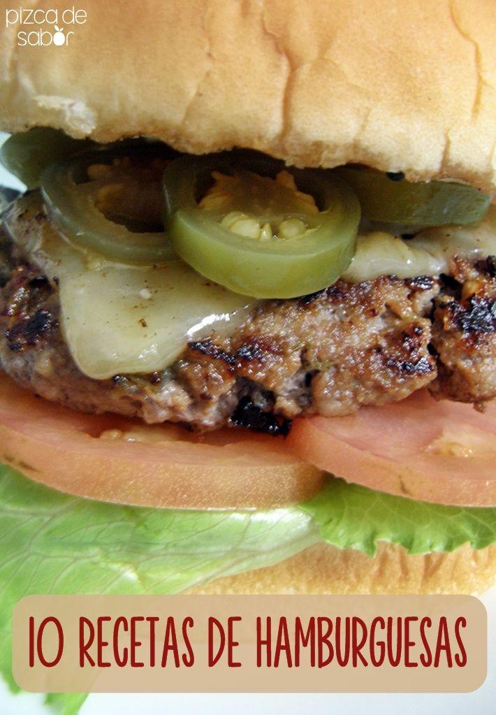 10 recetas de hamburguesas para preparar en la parrilla / asador | http://www.pizcadesabor.com