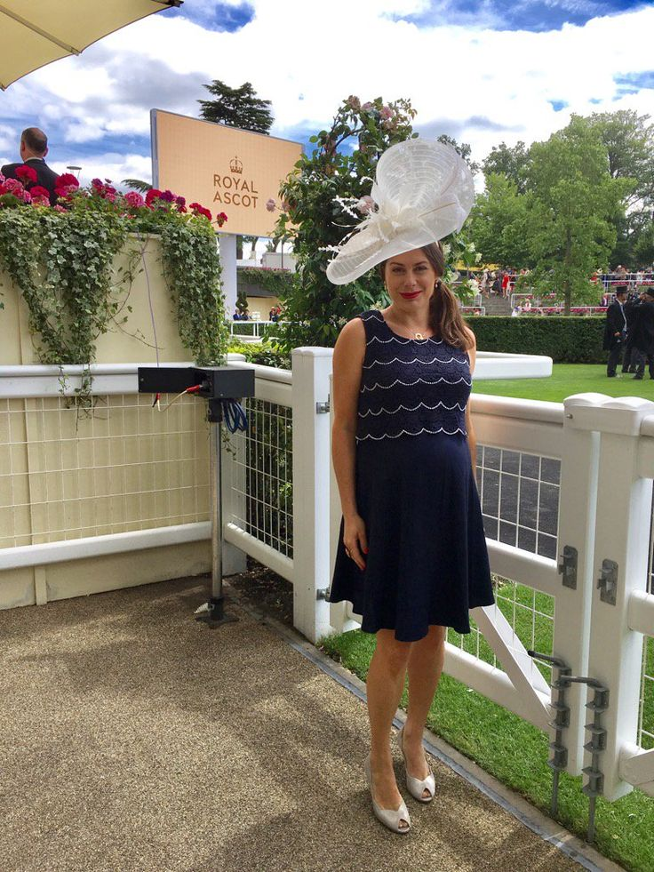 Royal Ascot 2017 - Katie Nicholl wearing Seraphine!! Shop > http://www.seraphine.com/us/luxe-collection.html races fashion | special occasion dress | wedding guest dress | royal ascot dress | royal ascot fashion | races outfit | maternity clothes | maternity fashion ideas | maternity dresses | pregnant | pregnancy