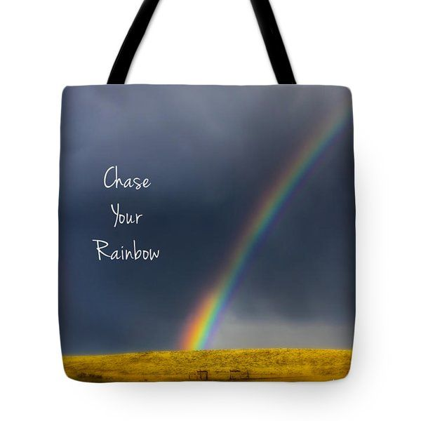All Tote Bags - Rainbow Over Wyoming Tote Bag by Amanda Smith