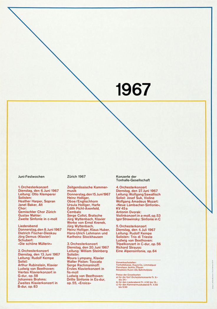 "Josef Müller-Brockmann ""swiss style"" - Agence de Communication Paris Lyon"