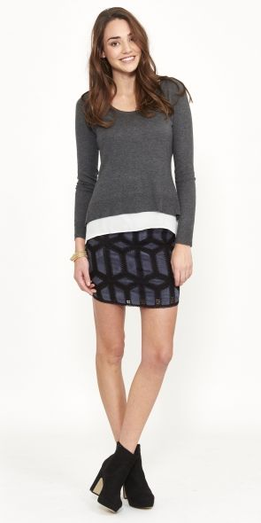 The Saphire Knit - Light knit - Scoop neck
