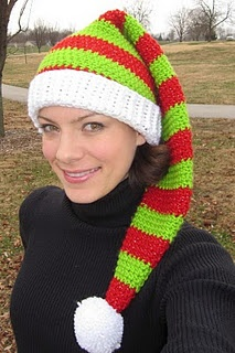 Crochet Pattern Stocking Hat : Silly Simple Elf Hat. Great for a simple stocking cap ...