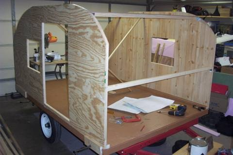 Build Yourself EZ Teardrop Camper DIY