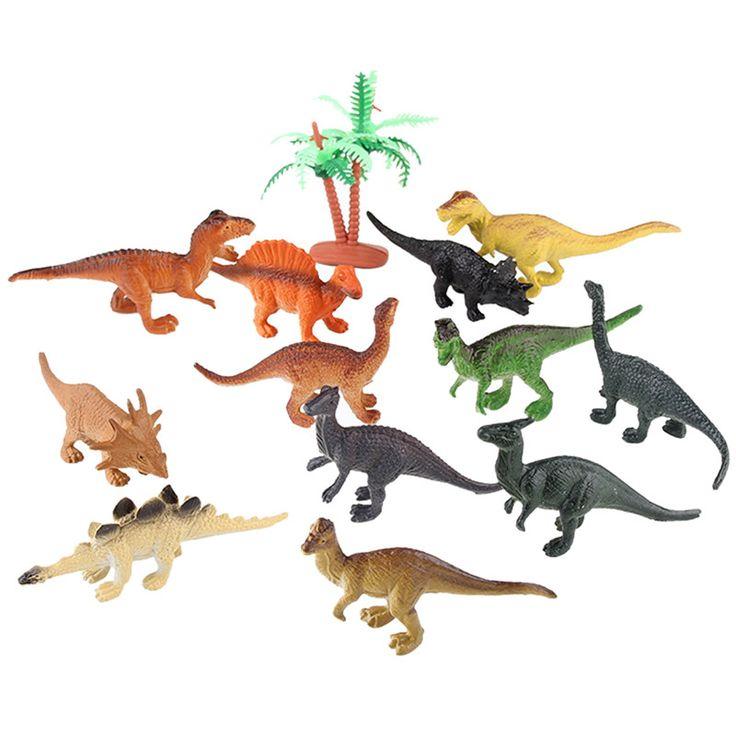 12 Pcs Dinosaur Toy Set Jurassic Park World Action Figures //Price: $9.45 & FREE Shipping //     #actionfigure