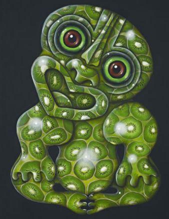 Kiwifruit Tiki - by Joanne Webber