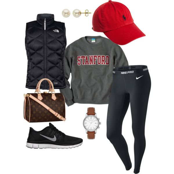 Relaxed Baseball game look.