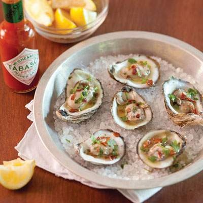 grilled oyster recipe from Louisiana Cookin magazine