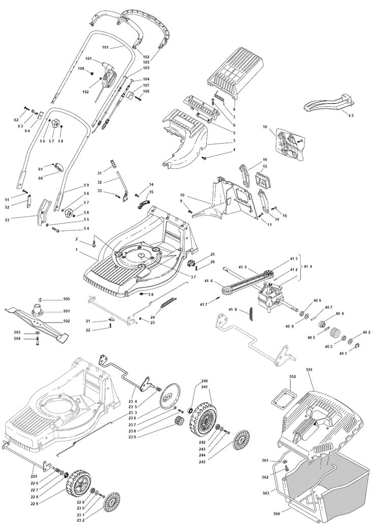 Mountfield SP555 Spares Parts Diagrams SP555 2009