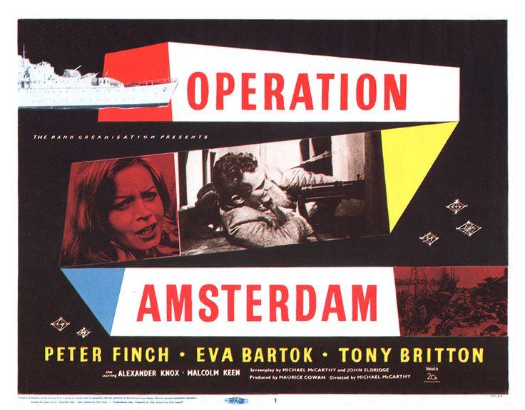 A Year of Spy Films 235/365 Operation Amsterdam (1953 United Kingdom)  The International Spy Film Guide Score: 8/10  #isfg #spyfilmguide #amsterdam #evabartok #peterfinch #diamonds #ww2 #spymovie #spyfilm https://www.kisskisskillkillarchive.com