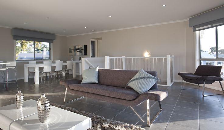 Sorrento Display Home at Hackham - Living Area  http://sa.rivergumhomes.com.au/home-designs/sorrento