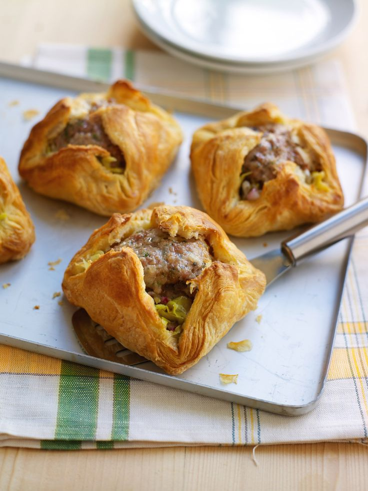 These sausage and leek parcels are a great dinner party recipe, and can easily be made in advance.