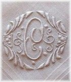 Antique Linens by Em's Heart -Antique Linen Embroidered Swiss Wedding Hanky