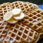 Banana waffles!: Recipes Breakfast, Bananas Waffles, Vanilla Almonds, No Sugar, Bananas I Twists, Banana Waffles, Almonds Milk, Breakfast Recipes, Waffles Recipes
