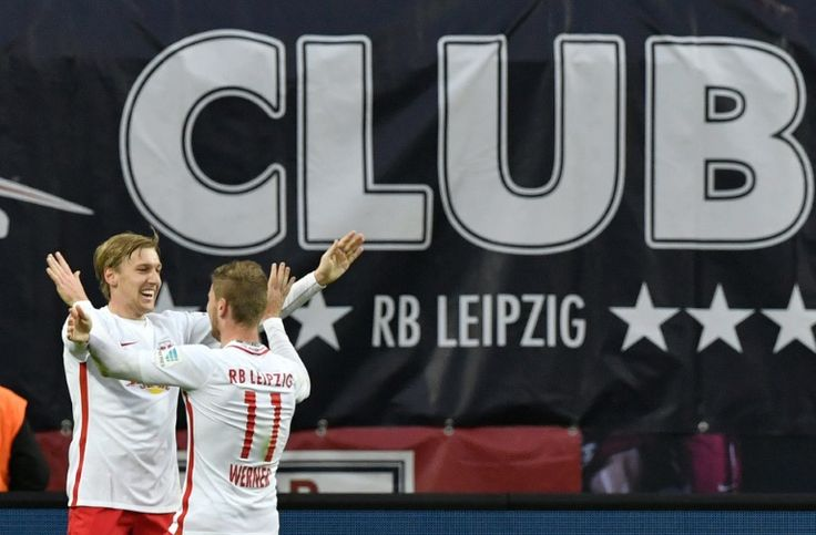 Leipzig equal record to draw level with Bayern   Berlin (AFP)  Bundesliga debutants RB Leipzig drew level on 24 points with Bayern Munich at the top of the table on Sunday with a record-equalling 3-1 win over Mainz.  Leipzig have now matched Bayerns run of seven wins and three draws from their first ten German league games.  They equal the record for a team in their debut Bundesliga season set by MSV Duisburg who also went ten games unbeaten in the 1993/94 season.  Timo Werner and Emil…