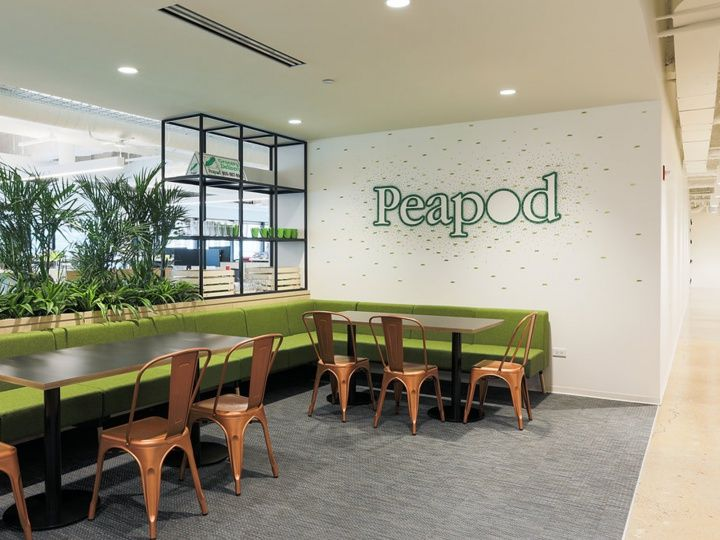 Peapod Chicago headquarters environmental branding by Spark