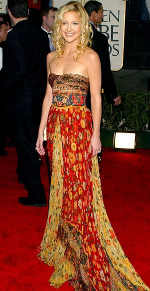 From Marilyn to Lupita, See Our Favorite Golden Globes Gowns of All Time - Kate Hudson, 2003  - from InStyle.com