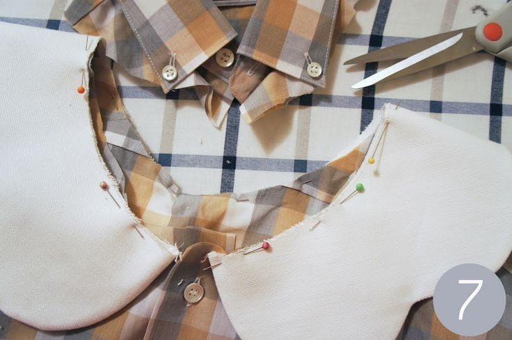 Permanently Disco: DIY: Scalloped Peter Pan Collar on a Button-Up