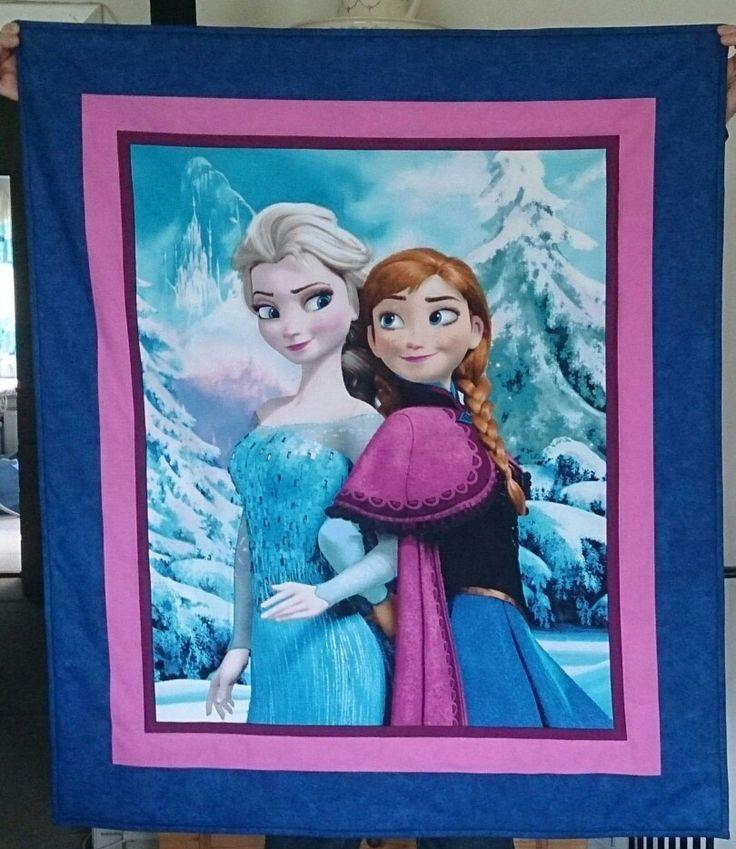 Forsiden af tæppe med Elsa og Anna