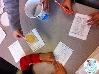 Oral communication games for French Immersion and Core French students!