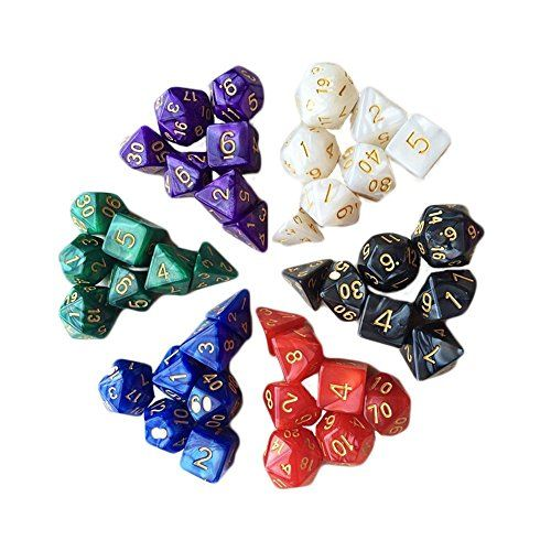7pcs/set TRPG Games Dungeons & Dragons D4-D20 Multi-sided Toys Dices:   Package included:<br> 1 x 20 sided dice<br> 1 x 12 sided dice<br> 1 x 10 sided percentage dice<br> 1 x 10 sided dice<br> 1 x 8 sided dice<br> 1 x 6 sided dice<br> 1 x 4 sided dice