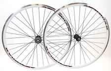AEROMAX 700c Single Speed Fixie Track Wheelset 32h White Clincher Road Bike NEW