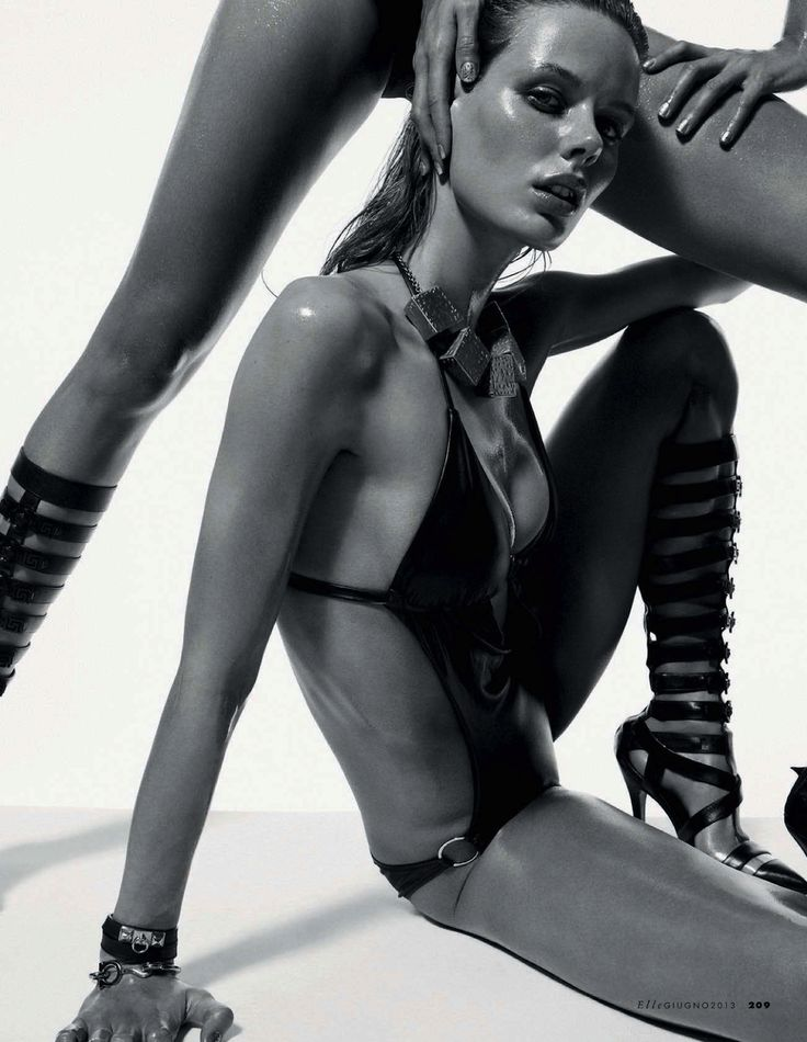 Hot shot: marlijn hoek and milena by mark pillai for Elle Italia