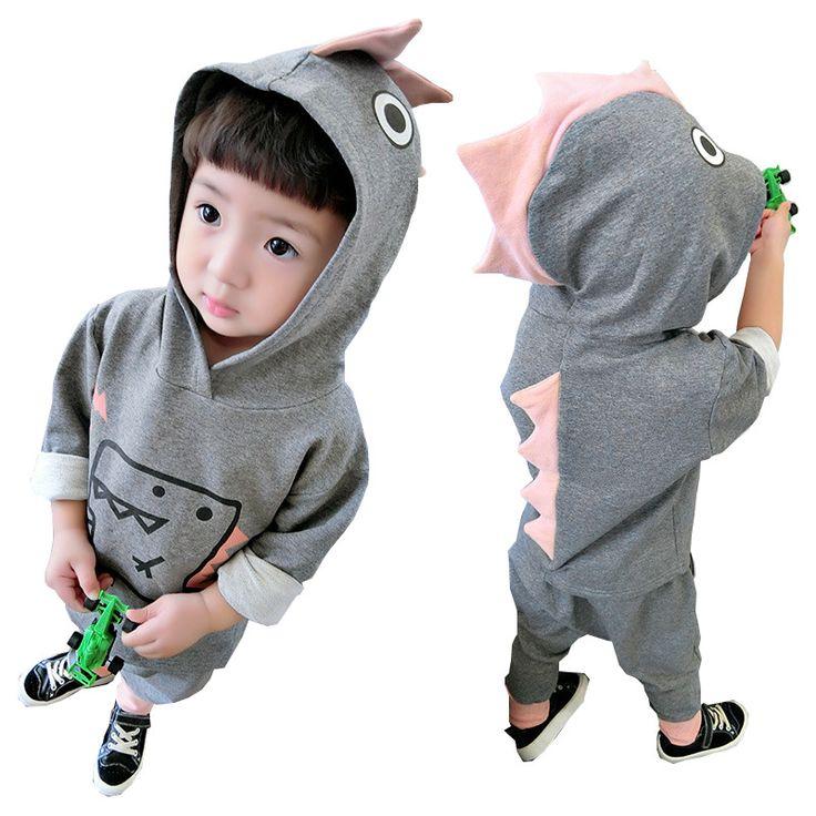 >> Click to Buy << Autumn Toddler Boy Clothes Casual Cartoon Hooded Coat Harem Pants 2pc Suits Cotton Kids Wear Boys Clothing Set 18M-5Y Kids Set #Affiliate
