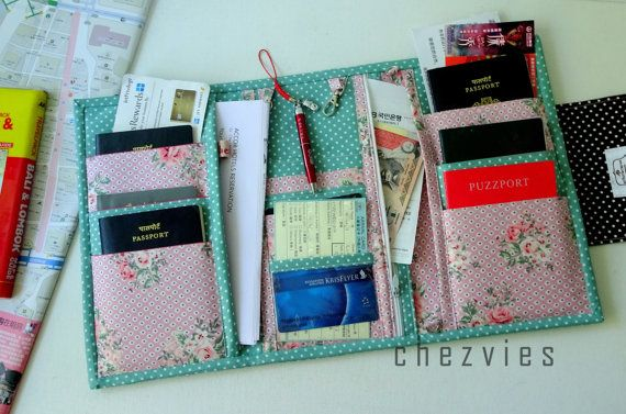 BIG Family Passport Wallet 3 fold wallet Passport by chezvies