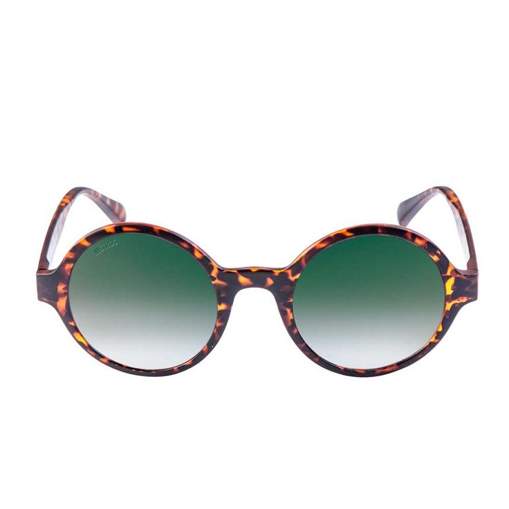 Urban Classics Retro Funk ronde zonnebril havanna/groen - Urban Classi