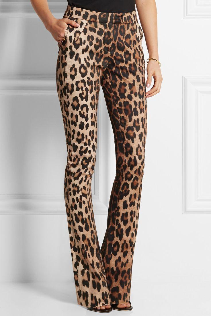 Altuzarra|Terrier leopard-print stretch-cotton flared pants|NET-A-PORTER.COM