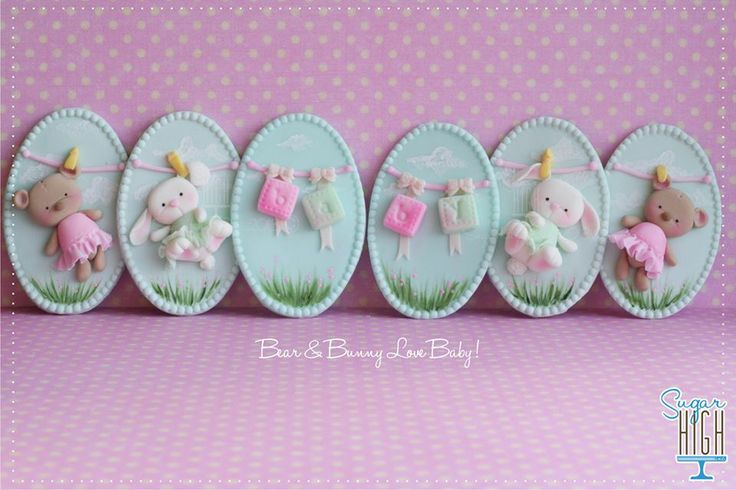 {TUTORIAL NOW AVAILABLE} A step by step, photo tutorial on how to make Bear & Bunny Love Baby Plaques!! https://www.facebook.com/LoveSugarHighInc/app_251458316228