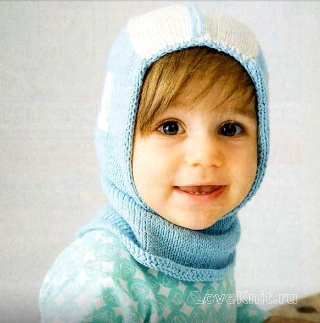 шапка-шлем для ребенка фото к описанию