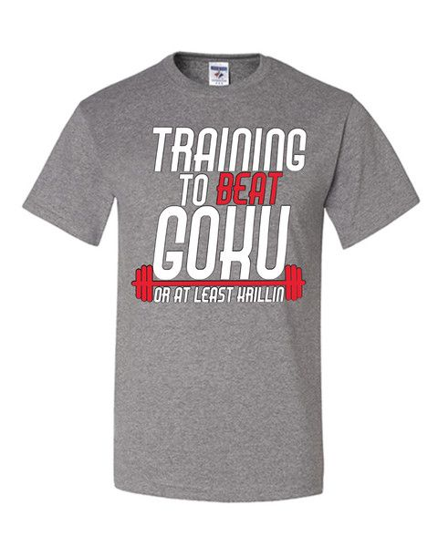 Training To Beat Goku T-Shirt Train Insaiyan Gym Workout Tee Shirt From $ 12.99