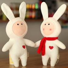 2016New кролик плюшевые игрушки куклы дети подарки 5 стиль, 30 см Кролик Чучела Животных DIY Кролик Игрушка в Подарок На День Рождения подарки(China (Mainland))