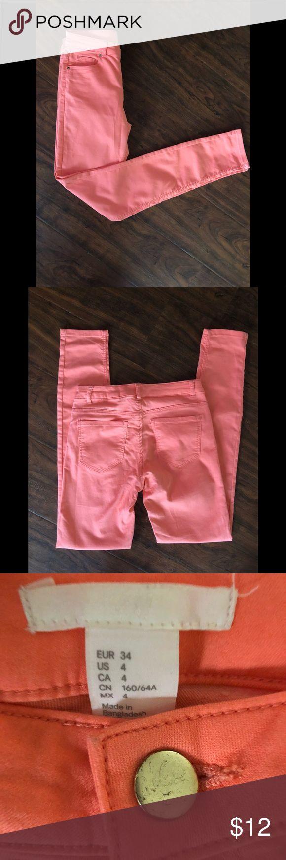 H&M Pants Salmon color H&M pants H&M Jeans