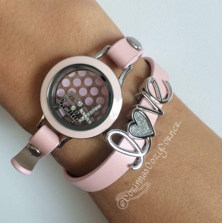 Origami Owl Bracelet, Pink <3