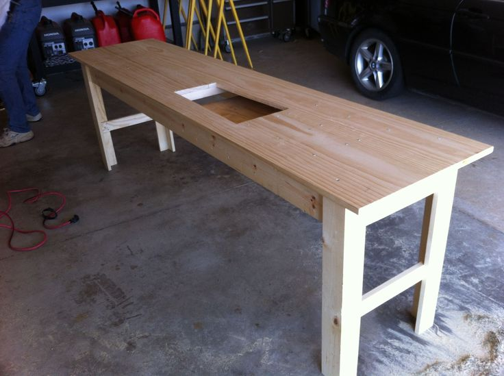 Sewing Center Cabinet Woodworking Plan I have been looking at sewing furniture for years This sewing table tutorial