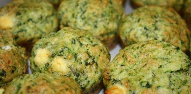 Briose de spanac cu broccoli si conopida