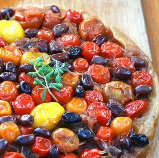 Caramelized Tomato Tarte Tatin (adopted from Melissa Clark's NY ...