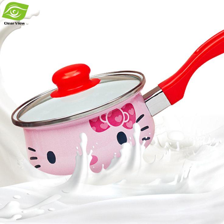 16CM Enamel Milk Pot Cooking Pot for Induction Cooker Small Sauce Pan