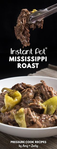 Make Instant Pot Mississippi Pot Roast Recipe (Pressure Cooker Mississippi Pot Roast) that took internet by storm! Families are obsessed with this delicious pepperoncini beef roast - comfort food with minimal prep.