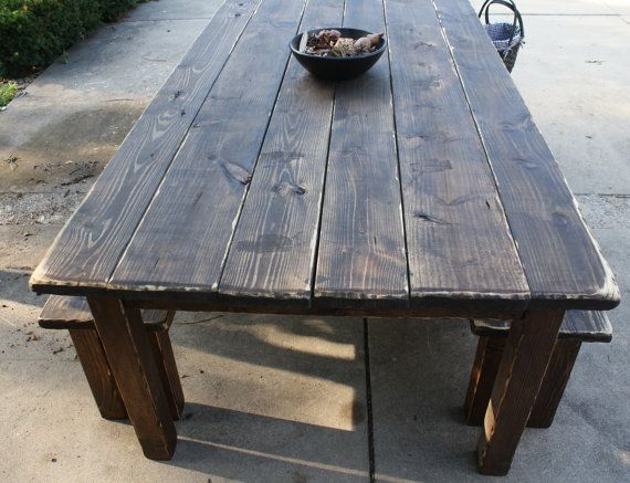 12-Foot Dark Walnut Stained & Distressed by UniquePrimtiques