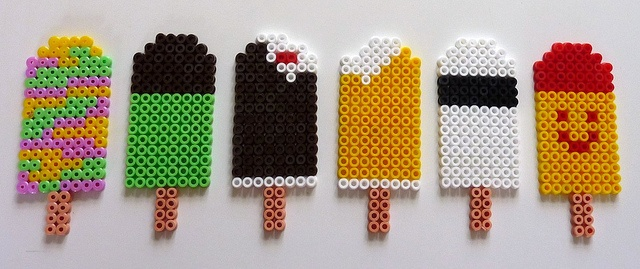 Hama-is - Ice cream hama beads. Hama beads are awesome. But I could only make rainbows.
