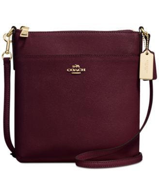 COACH Courier Crossbody in Crossgrain Leather | macys.com