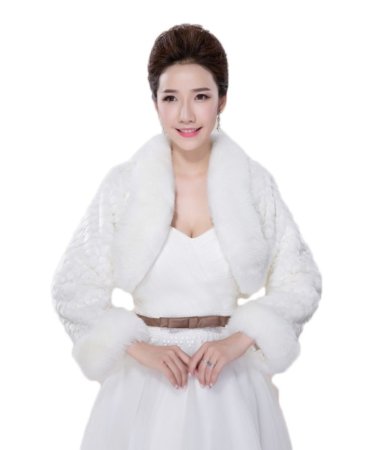 >> Click to Buy << New Arrival Faux Fur Bridal Shawls Wedding Jacket with Long Sleeves Wedding Bolero Wraps Coat Wedding Fur Bolero faux fur stoles #Affiliate