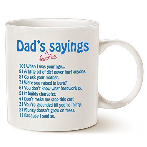 Christmas Gifts For Dad.Funny Dads Favorite Sayings Coffee Mug Christmas Gifts