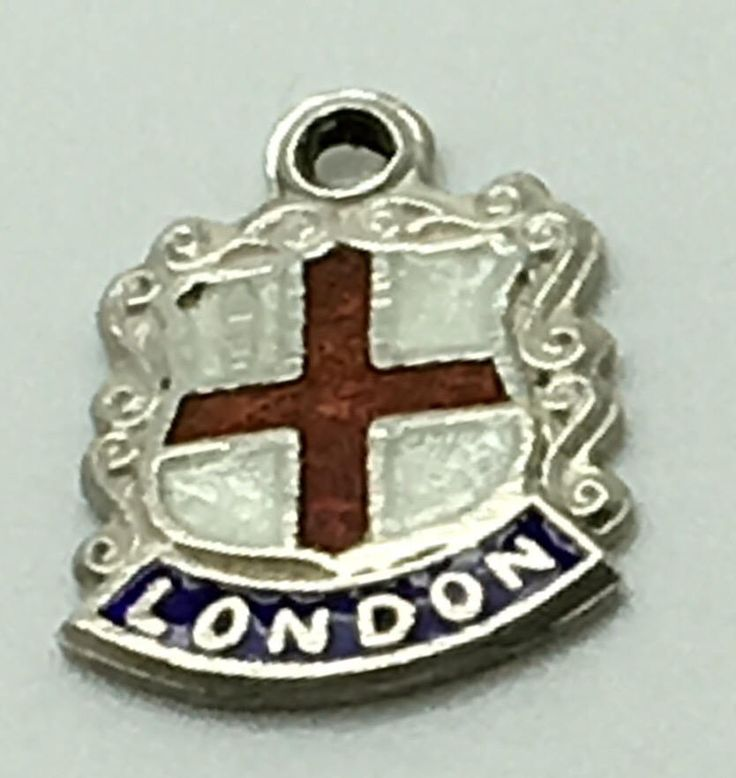 London England Enamel Travel Shield  Sterling Silver Charm  Coat Of Arms Europe Great Britain UK Travel Souvenir by Fraservalleyjewels on Etsy