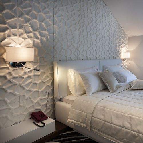 3D Wall Panels that add texture and depth to your plain interior wall space. #wallpanels #3dwalltiles #texturedwall #wallideas #walldesign #interiorwalldesign