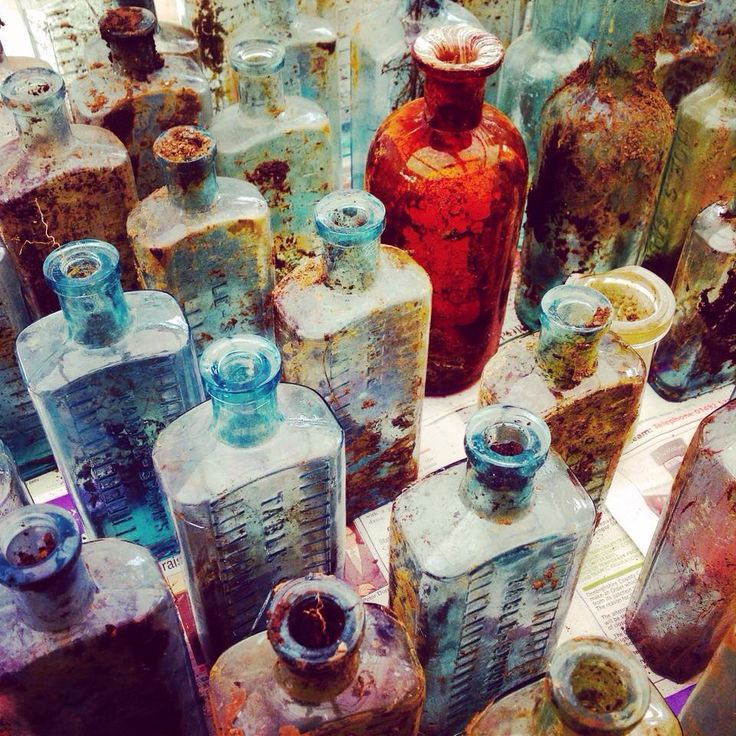 Amazing what you find underground #vintagemedicinebottles