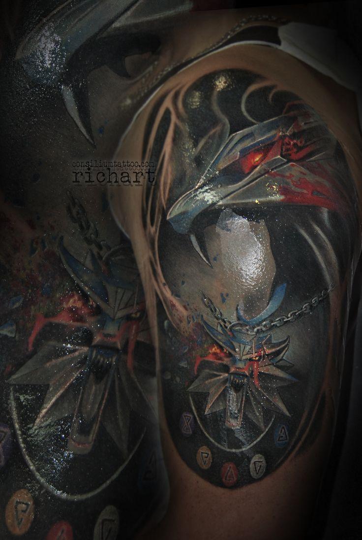 TATTOO, TATUAJE DE THE WITCHER EN CONSILIUM TATTOO POR RICHART MORENO ESTAMOS EN VILA-SECA (TARRAGONA)  Septiembre 07, 2017 Consilium TattooColor tags: 2015, 2016, 2017, barcelona, black and grey, brazo tatuado, brazos tatuados, catrina, color, consilium, consilium tattoo, consiliumtattoo, consiliun tattoo, grises, mejores tatuajes, monocromo, motor, ojo de ra, ojo tattoo, piernas tatuadas, realismo, realista, retrato, richart, richart moreno, richart_tattoo, studio, tarragona, tatoo…